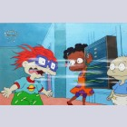 Original Rugrats Production Cel featuring Chucky, Susie and Tommy