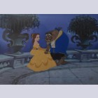 Original Walt Disney Beauty and the Beast Limited Edition Cel, Sitting on the Terrace