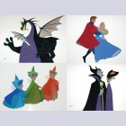 Original Walt Disney Limited Edition Cel Set of Four from Sleeping Beauty