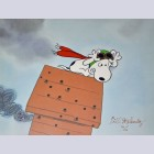 Original Peanuts Limited Edition Cel, Losing Altitude