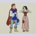 Disney Animation Art Hand Colored Etching Featuring Snow White