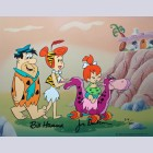 Hanna Barbera The Flintstones Limited Edition Cel, Strolling With Pebbles