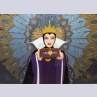 Original Walt Disney Limited Edition Cel from Snow White featuring Wicked Queen