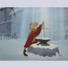 Original Walt Disney Sword in the Stone Limited Edition Cel, Excalibur
