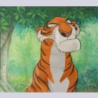 Original Walt Disney Production Cel on Color Copy Background from The Jungle Book featuring Shere Khan