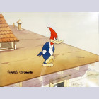 Original Signed Walter Lantz Production Cel Featuring Woody Woodpecker