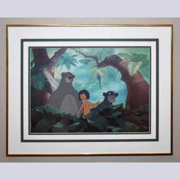 Original Walt Disney The Jungle Book Limited Edition Cel, Jungle Pals