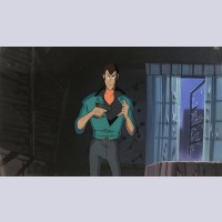 Lupin III Production Cel on Production Background