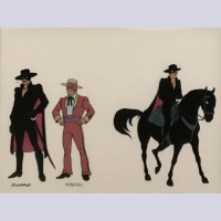 Filmation Model Cel from The New Adventures of Zorro featuring Zorro, Miguel, and Tempest