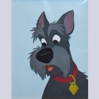 Original Walt Disney Production Cel from Lady and the Tramp featuring Jock
