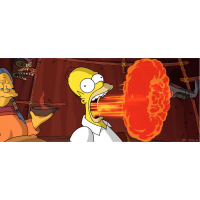 Original Simpsons Limited Edition Paper Giclee Print, Flaming Homer