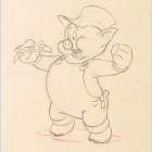 Original Walt Disney Production Drawing from The Practical Pig