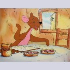 Original Walt Disney Educational Television Production Cel from Winnie the Pooh featuring Kanga