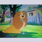 Original Walt Disney Production Cel from Lady and the Tramp featuring Lady